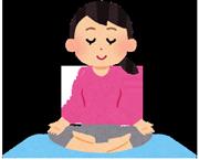 ヨガでストレスを解消する女性のイラスト